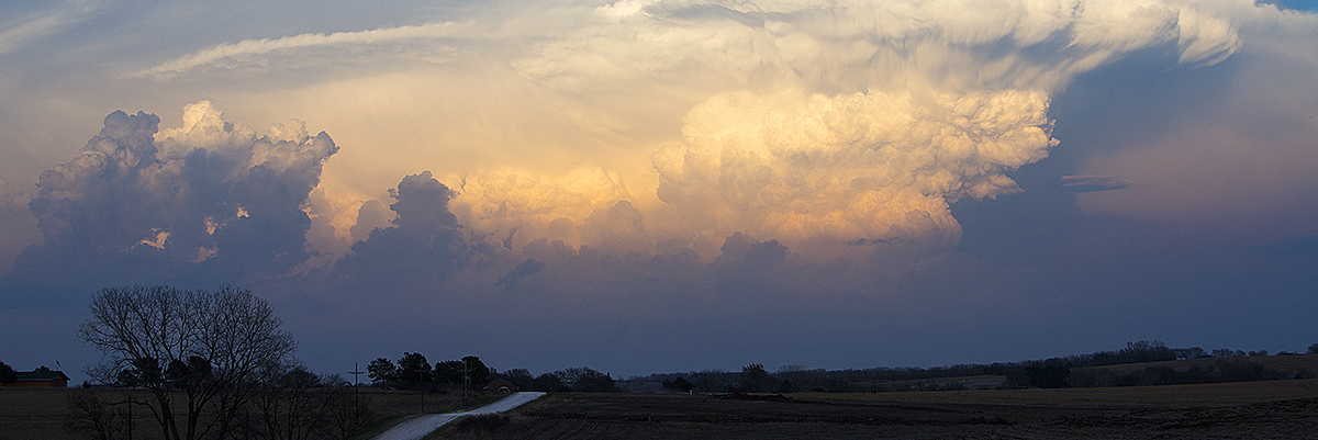 thunderclouds over grasslands