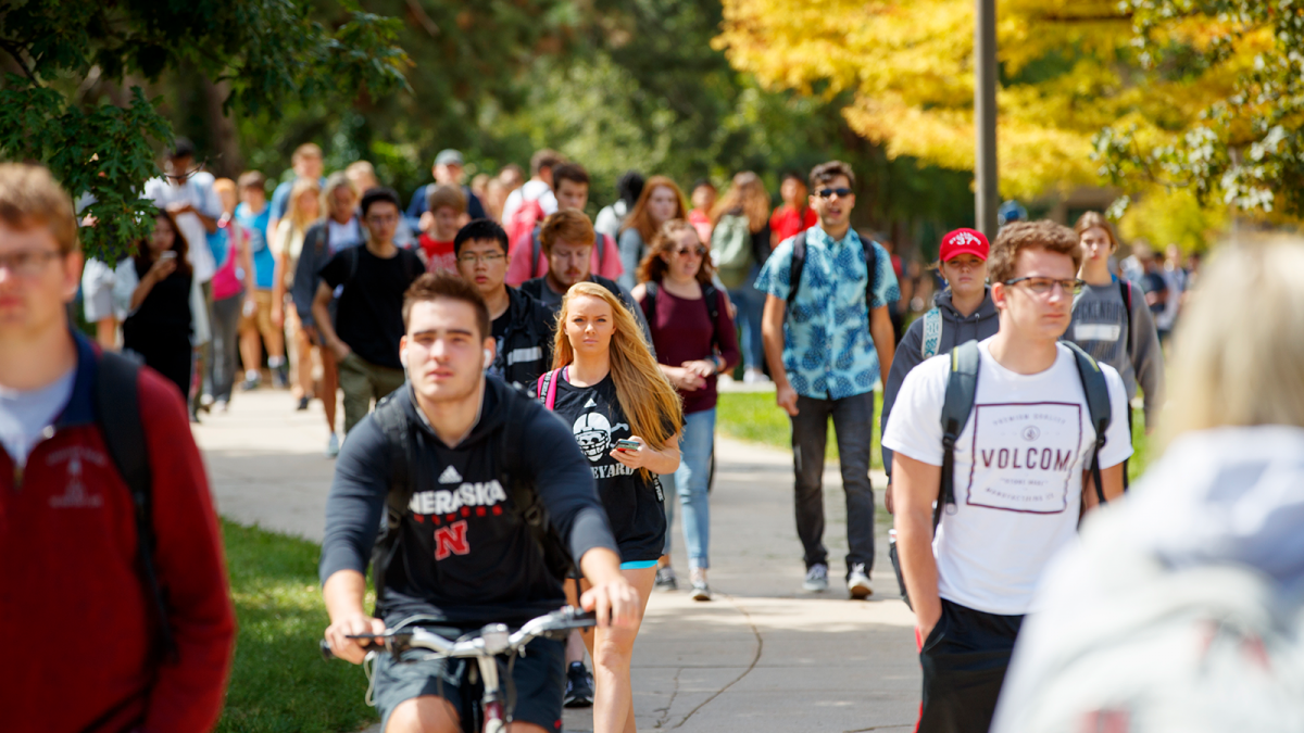 students on East Campus