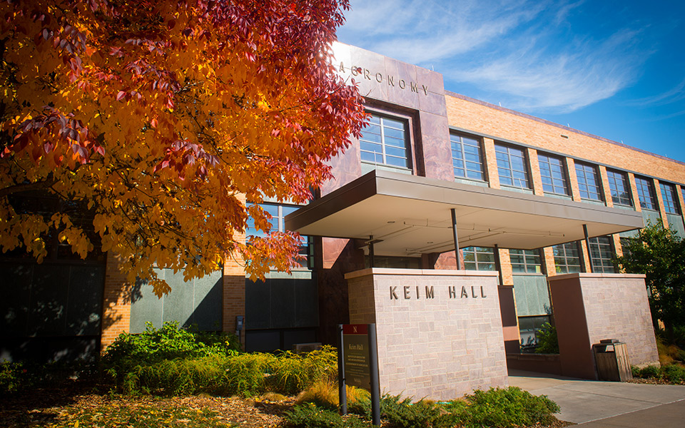 keim hall exterior in fall