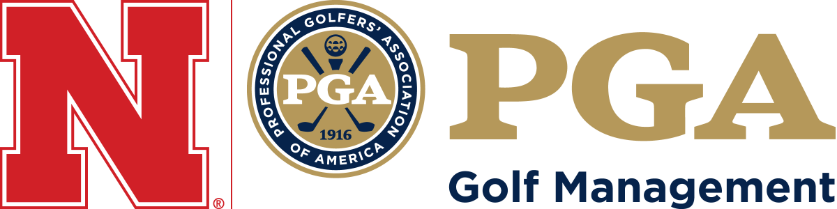 logo with Husker N and PGA Golf Management logo