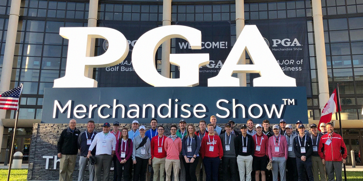 pgm students at the pga merchandise show